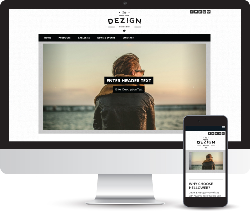 Dezign, Create free website, Web Design By HelloWeb